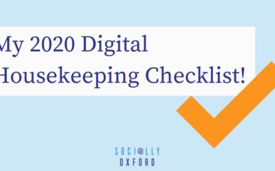 My 2020 Digital Housekeeping Checklist!
